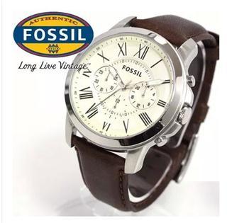 美国直邮代购 Fossil男表复古罗马字母手表FS4813/FS4839/FS4835