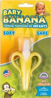 【代购直邮】baby banana香蕉宝宝硅胶婴儿乳牙刷