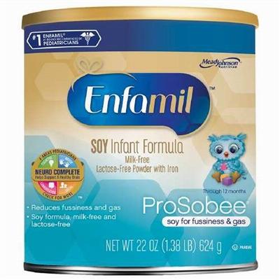 【美国直邮】Enfamil美赞臣一段大豆配方奶粉624克 (3罐起包邮)