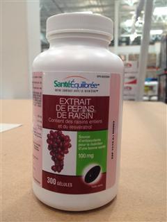 【加拿大直邮】加拿大原装health balance 葡萄籽油胶囊 300粒