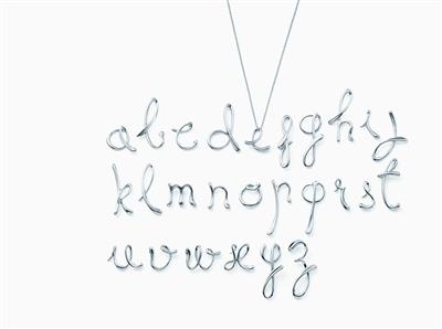 tiffany 蒂凡尼 elsa peretti03 字母系列
