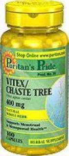 官网直邮puritan's pride圣洁莓 /贞节树400mg*100粒调节女性生理机能