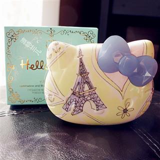 美国丝芙兰限量版Hello Kitty 眼影/腮红/化妆镜3层彩妆盘包邮!
