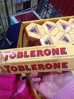 代购 直邮Toblerone瑞士三角牛奶巧克力含蜂蜜杏仁奶油100g*6条装