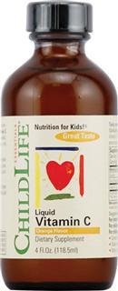 包美国直邮!ChildLife婴幼儿纯天然维C液 提高免疫 118.5ml