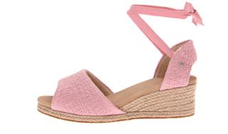UGG 粉色坡跟凉鞋 成人款