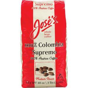 免运费!包美国直邮 JOSE'S ColombiaSupremo哥伦比亚咖啡豆 1360克