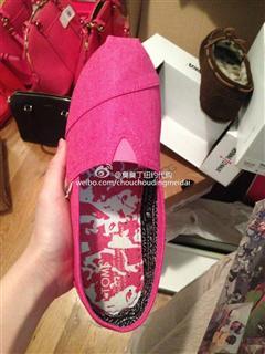 (美国现货)Toms枚红色布鞋美码大童4.5适合36.5/美码4 适合36