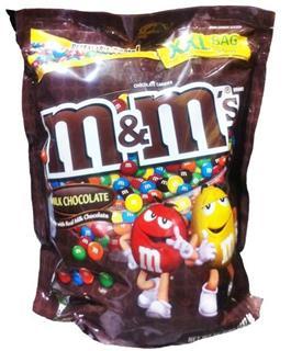 免运费!包美国直邮大袋装 MM豆(M&MS)牛奶巧克力豆 1587.6g