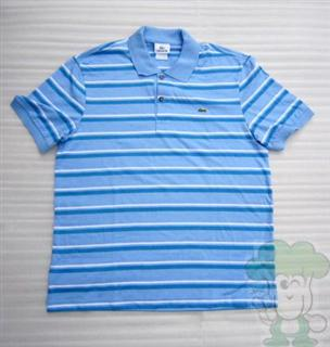 Lacoste鳄鱼男式条纹polo衫4码/5码