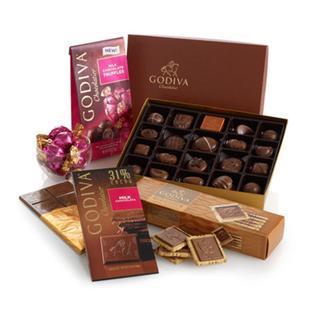 情人节礼物 GODIVA歌帝梵 甜蜜爱人牛奶巧克力礼盒 22粒装