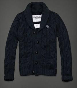 ABERCROMBIE FITCH AF男式毛衣开衫 Hunters Pass