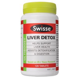澳洲swisse Liver Detox肝脏排毒片120粒 奶蓟草护肝改善脂肪肝 !