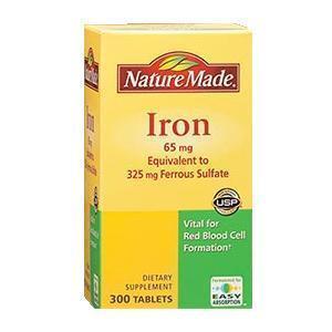 免运费!包美国直邮 Nature Made Iron补铁 补血 防贫血 300粒
