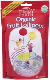 Yummy Earth有机棒棒糖 天然酸甜混合4种水果味 (15支)-3包起拍