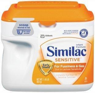 免运费!包美国直邮!Similac雅培低敏防胀气奶粉 1段 657克