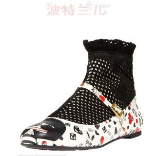 美国专柜MARC JACOBS创新花边网袜超可爱5折丑娃鞋 现货包邮!