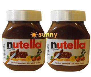 免运费!包美国直邮费列罗Nutella榛子巧克力酱榛果可可酱750gX2瓶