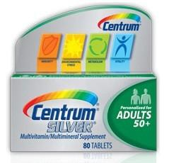 美国原装 Centrum老年银善存复合维生素80粒+送20粒装 50岁以上 善存