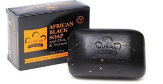 包美国直邮 Nubian非洲黑皂 含芦荟维生素E燕麦 适合油性痘痘肌