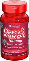 特价!免运费包美国直邮vitamin world高含量深海鱼油1000mg 100粒