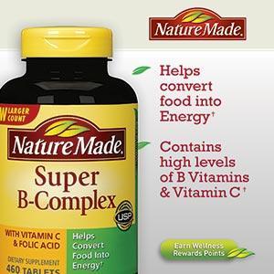 美国直邮Nature Made 维生素B群+维生素C+叶酸 460粒