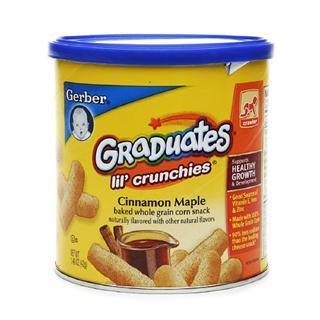 美国直邮 GERBER嘉宝肉桂苹果口味香脆泡芙条 富含维生素铁锌 42g