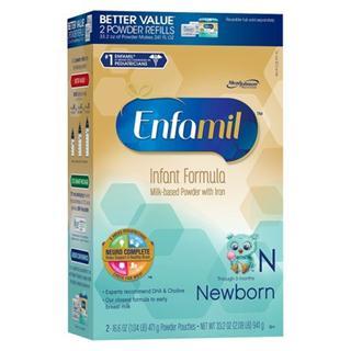 Enfamil美赞臣0-3个月初生婴儿专用奶粉941克(2盒起拍)