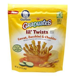 Gerber嘉宝蔬菜奶酪麻花形全麦饼干 90克 2种口味