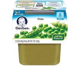 美国直邮 嘉宝Gerber果泥1段 原装进口婴儿食品宝宝辅食 豌豆泥