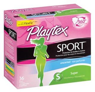 【代购直邮】美国Playtex Sport倍得适无香型卫生棉条运动型 36支