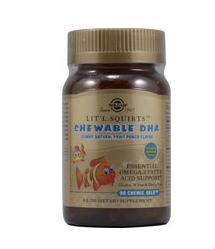 免运费!包美国直邮 SOLGAR儿童咀嚼小鱼DHA 90粒天然水果味软糖
