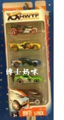 hot wheels风火轮火辣小跑车五辆装 美泰合金玩具车模型