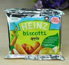 英国HEINZ/亨氏苹果手指饼婴儿磨牙棒饼干7m+ 60g*12 英国直邮