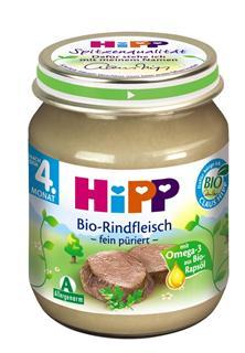 德国原装Hipp 喜宝 辅食 有机牛肉泥 4月+ 125g肉泥