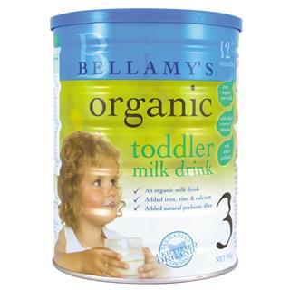 Bellamy's 贝拉米澳洲原产有机三段婴儿奶粉 900克