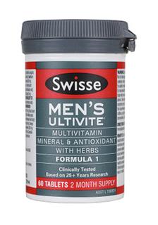 澳洲Swisse Ultivite男士复合素维生素片 植物精华 60粒