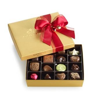 【美国直邮】高迪瓦 godiva 19颗 经典金色礼盒巧克力