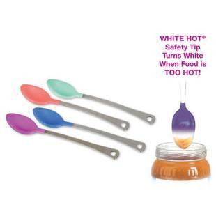 麦肯奇Munchkin婴儿安全温控变色感温勺子4支装可拆单