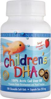 挪威Nordic Naturals 儿童鳕鱼油DHA草莓味软胶囊/可咀嚼180粒