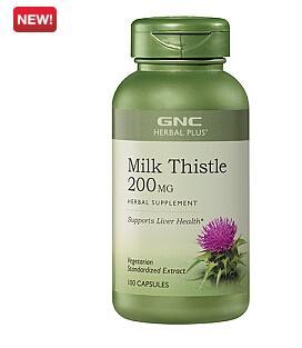 GNC水飞蓟 奶蓟Milk Thistle 护肝养肝 修复肝细胞 200mg*100粒