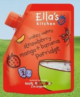 英国Ella's kitchen艾拉厨房草莓芒果香蕉有机米糊, 7+ 150g 英国直邮