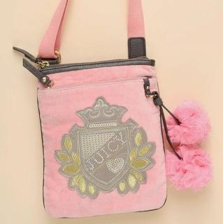 美国直邮Juicy Couture橘姿绒绒学院风LOGO布球包4折现货包邮!