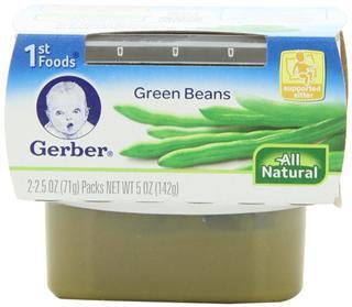 美国直邮 嘉宝Gerber果泥1段 原装进口婴儿食品宝宝辅食 四季豆泥