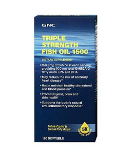 美国代购包邮 GNC健安喜三倍浓缩5倍纯净深海鱼油胶囊 降血脂三高