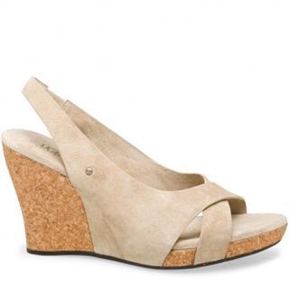 澳洲直邮 7天送达正品UGGAustralia 夏季黄麻底坡跟凉鞋 包邮