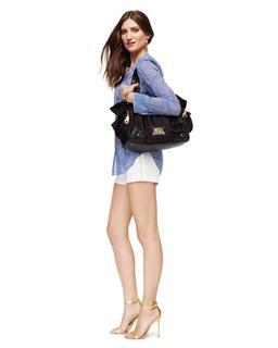 美国代购 juicy couture蝴蝶结白日梦单肩斜跨手提包YHRU3350大号