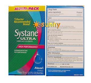 免运费!包美国直邮Alcon爱尔康Systane Ultra适然/思然 10ml×3