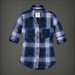 Abercrombie&Fitch AF女士经典格子衬衣/衬衫