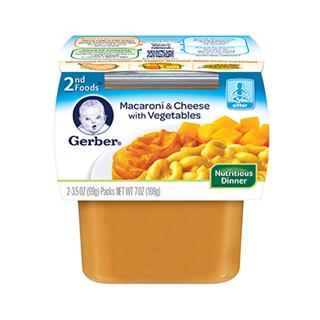 任3件嘉宝包美国直邮 Gerber嘉宝2段二段 营养晚餐通心粉奶酪泥